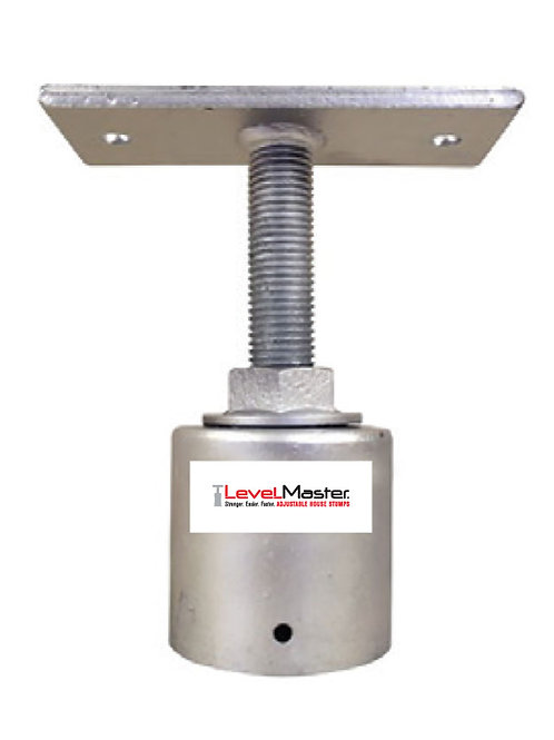 Screw on Round Pile Top - Straight Plate