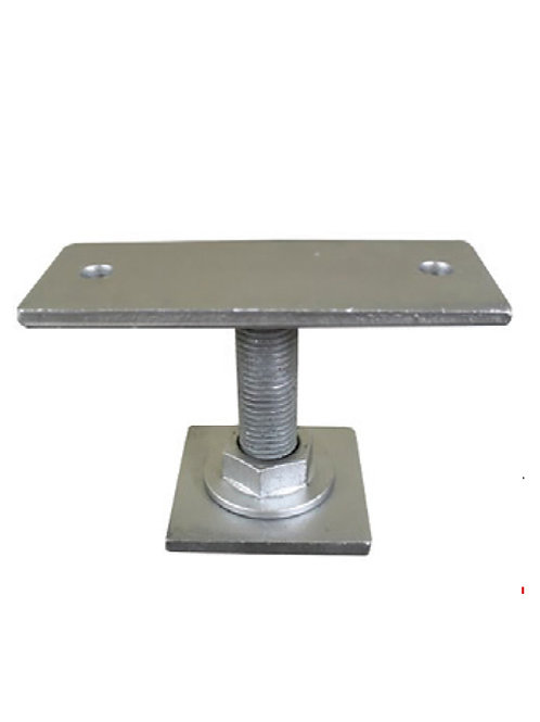 Weld on Pile Top -Straight Plate off set, 2 hole