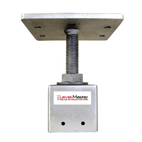 Screw on Square Pile Top - Straight Large Plate, 4 hole