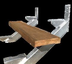Steel Stir Stringer with hardwood treads