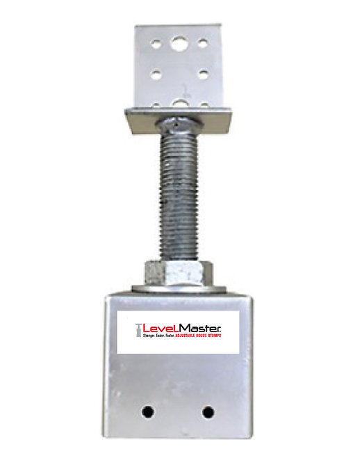 Screw on Square Pile Top - Vertical Plate Small