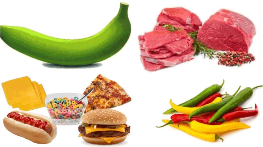 Рис. 2. Продукты, которые нельзя есть при трещине заднего прохода