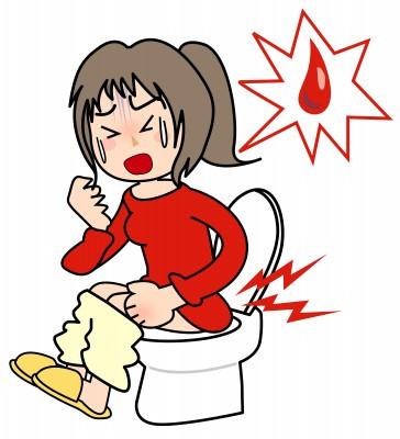 Рис. 3. Основной признак внутреннего геморроя - боль и кровь при дефекации.