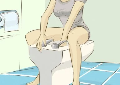 Рис. 3. При трещине заднего прохода нужно регулярно обмывать анус.