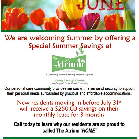Welcome Summer Savings