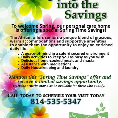 Spring Time Savings