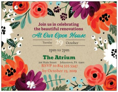 The Atrium To Host Fall Open House