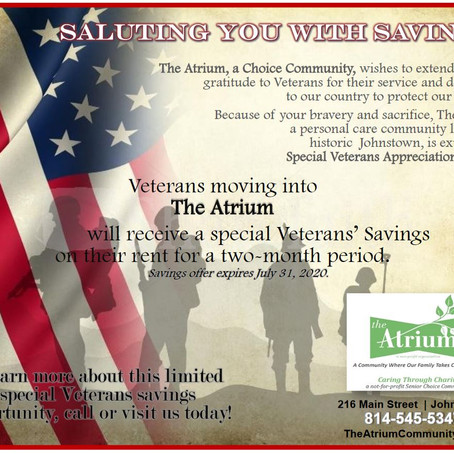Veterans' Savings