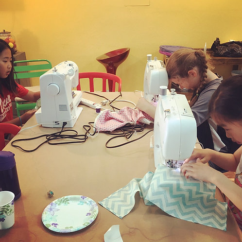 Sewing Camp_Session 4A: 9-12PM, 6/24-6/28