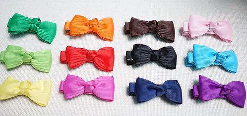 Ribbon bow haircilp (set of 3)