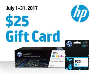 July 1–31, 2017 $25 Gift Card