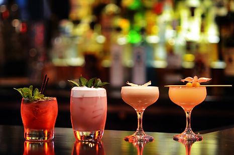 Cocktails 3 glasses