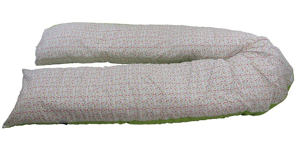 iSafe Large Pillow cover - Raspberry Leafs