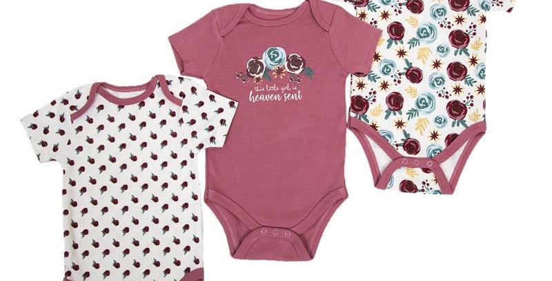 Baby Girls 3 pack bodysuit