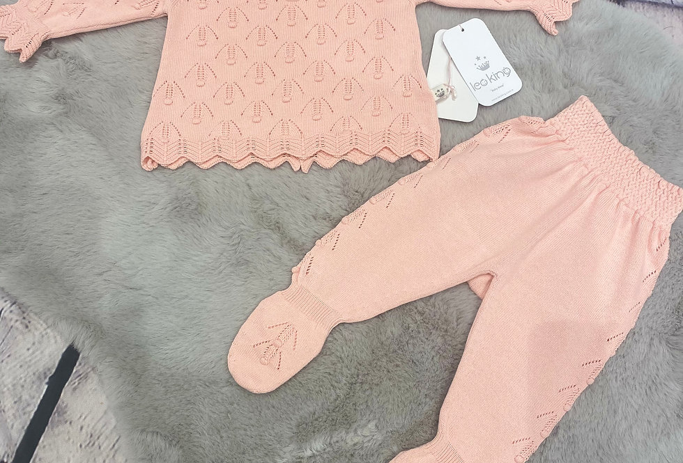 Baby Girls Two Piece Knitted Spanish set