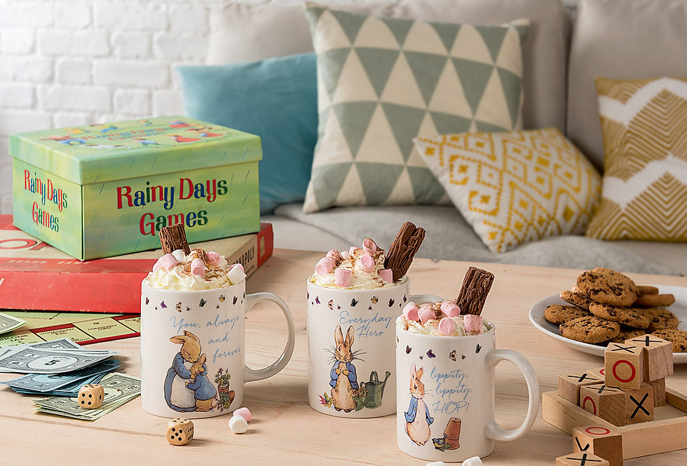 Peter Rabbit, Mummy, Daddy & Me Mug Set