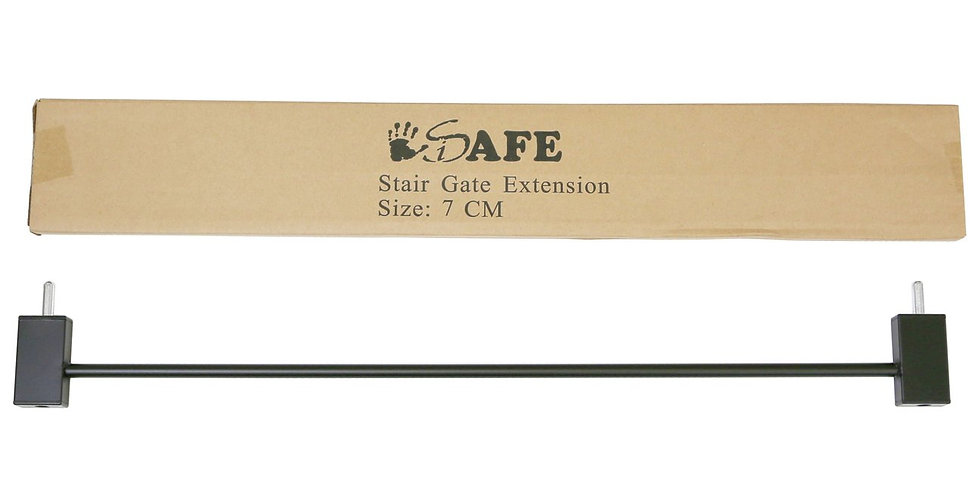 iSafe DeLuxe Wooden Stair Gate 7cm Extension
