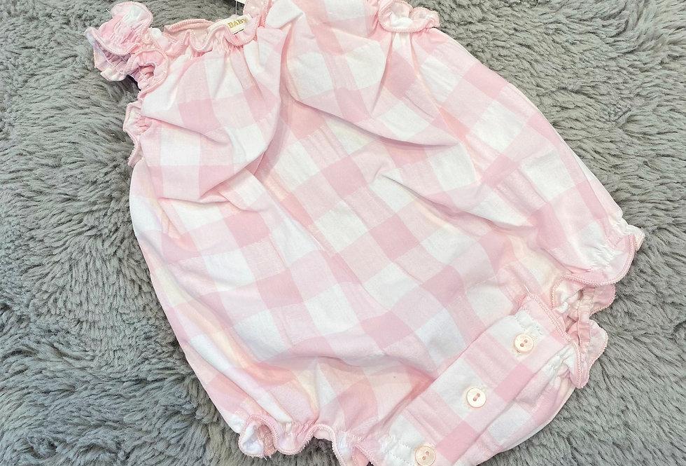 Mintini Romper Pink & White
