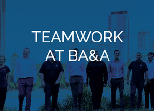 Reflections - what do we value about teamwork at BA&A?