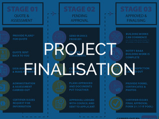Stage 7 – How is my project finalised?