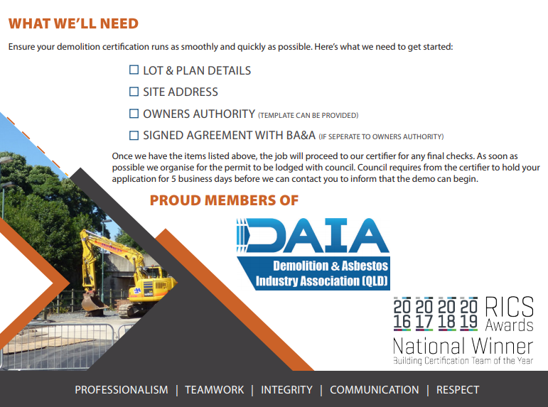 demolition certification residential permit what you need