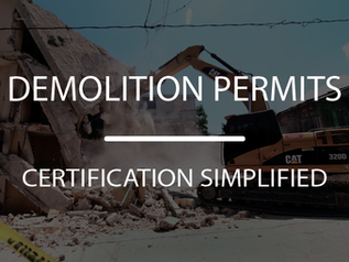 Don't risk it... Three strategies we've learned to support clients to simplify demo permits