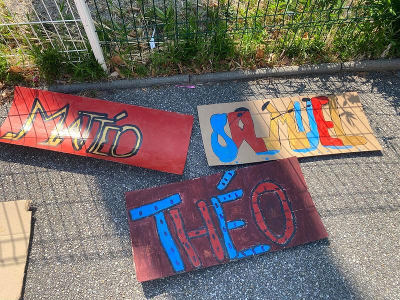 Prénom Graffiti groupe 9-12 ans