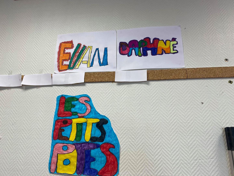 Dessin graffiti groupe 9-12 ans