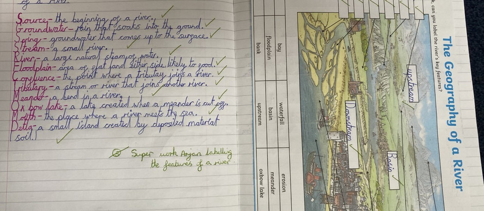 Super Geography Work from Arjan in Y4