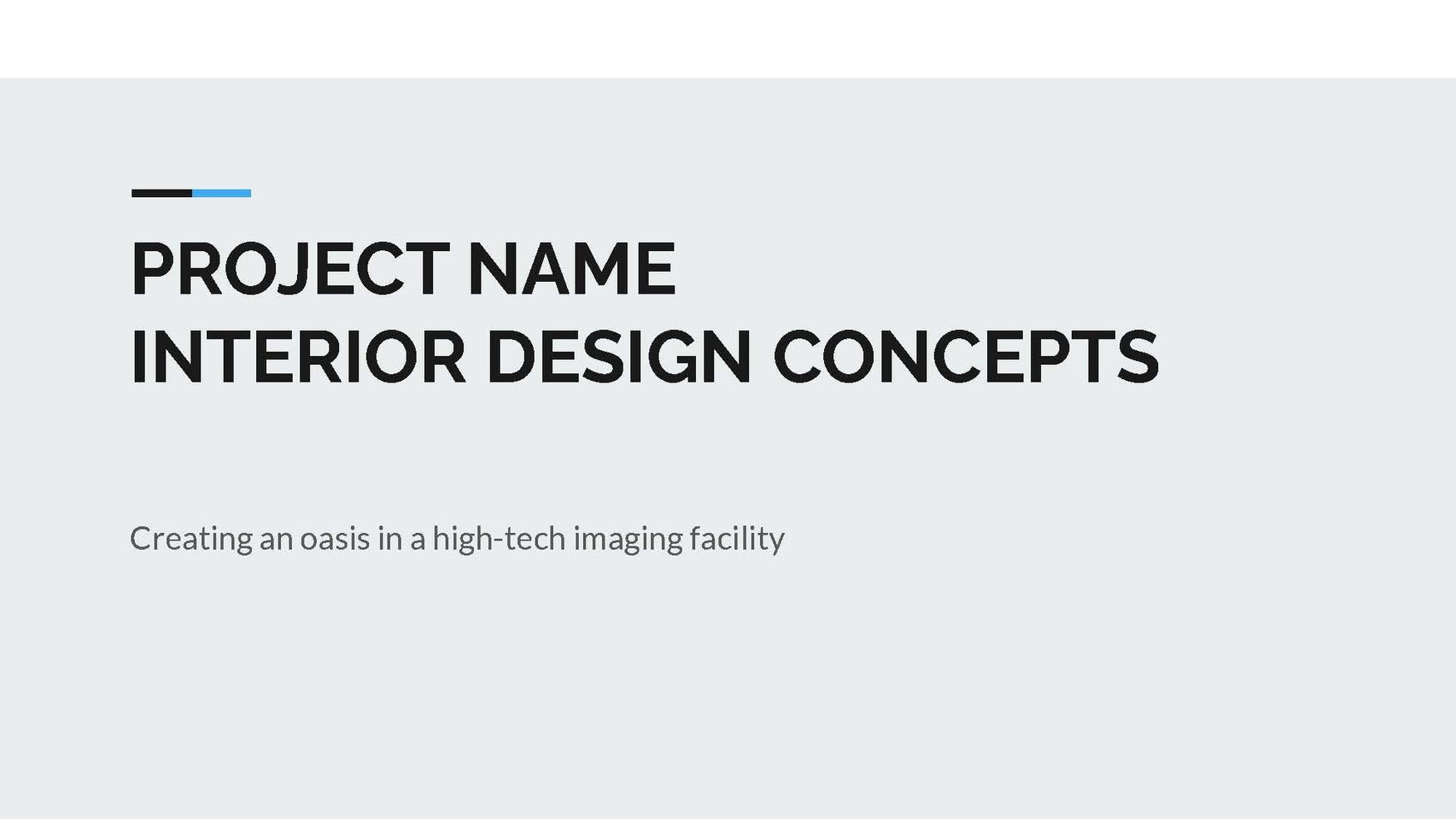 MRI INTERIOR DESIGN CONCEPTS