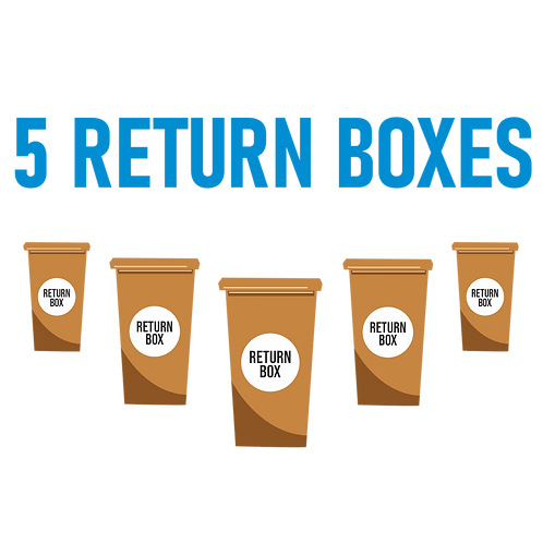 5 Return Boxes