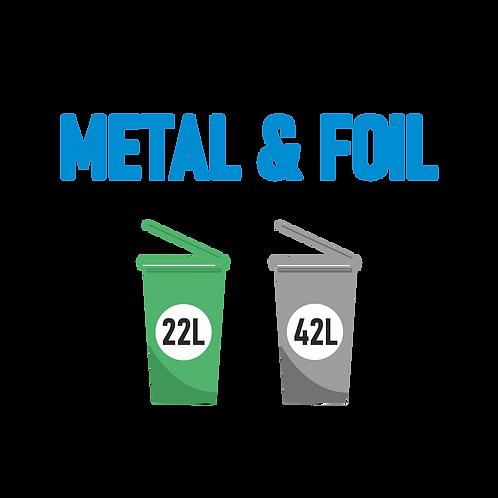 Metal Foil Recycle Bin
