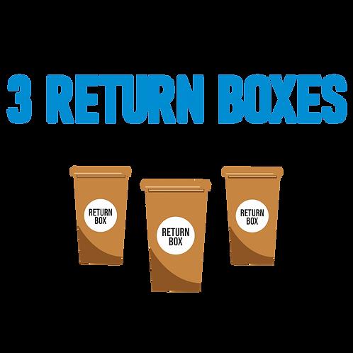3 Return Boxes