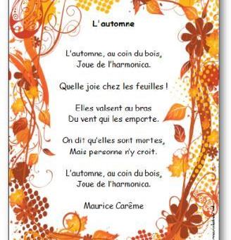 [M3] L'automne de Maurice Carême