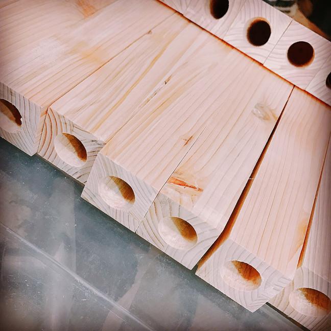 【一輪挿し×デザイン書道】一輪挿し木工品(♥︎Ü♥︎)↑︎↑︎
