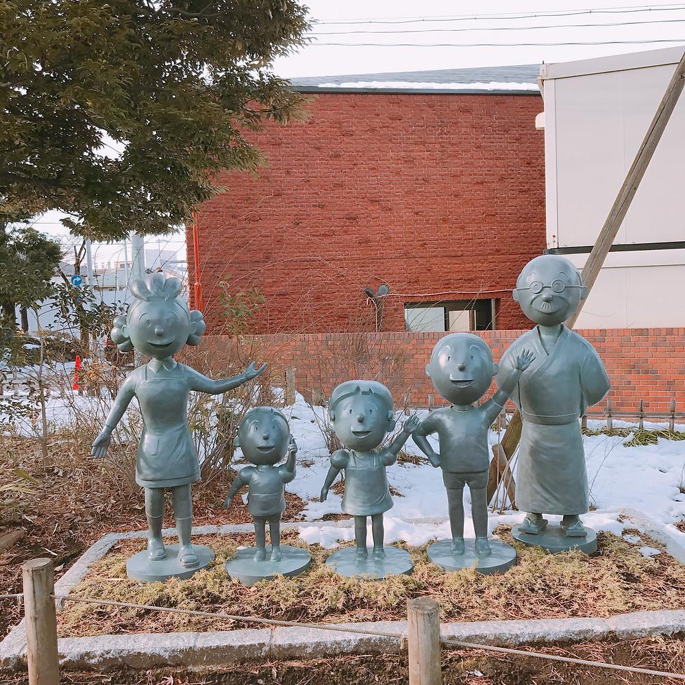 サザエさん 桜新町 銅像