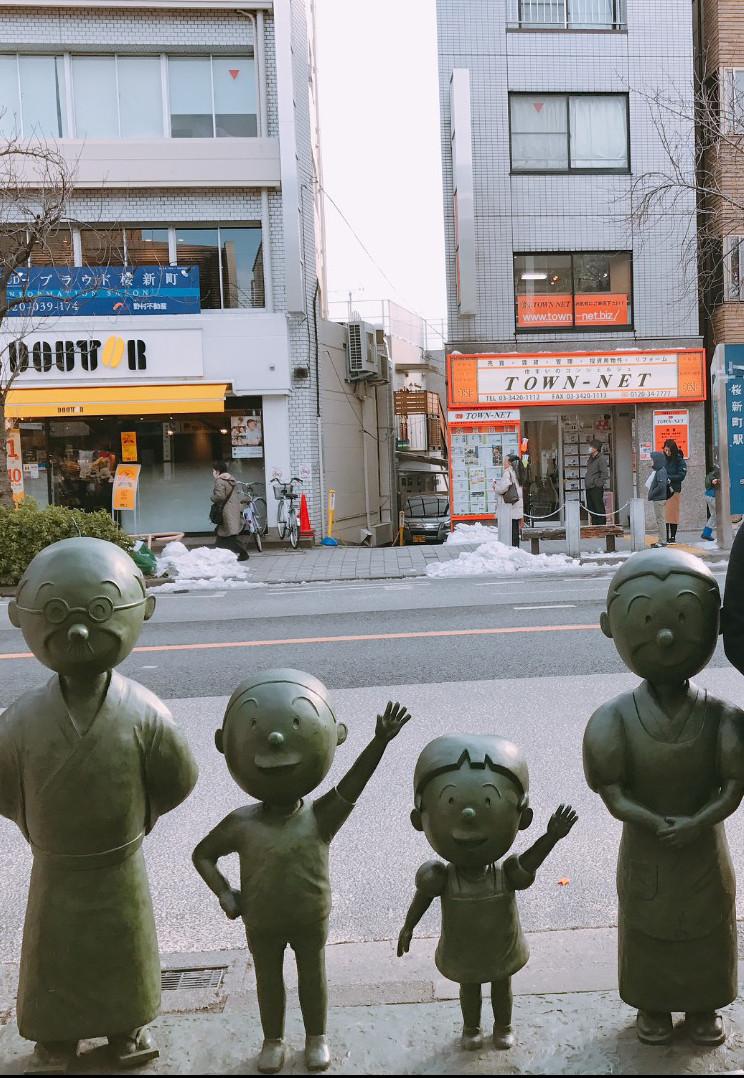 桜新町西口 サザエさん銅像
