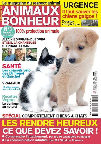 Couverture du magazine Animaux Bonheur N°3