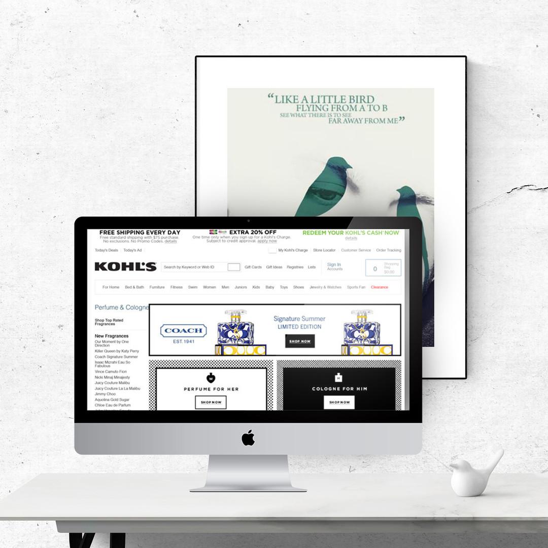 Kohls: eCommerce - Perfume Page