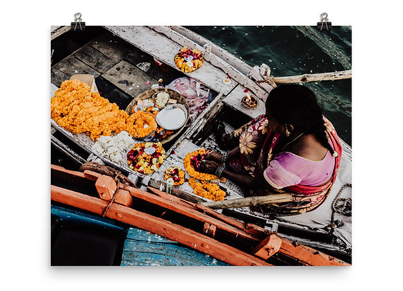 Ganges Flowers Print