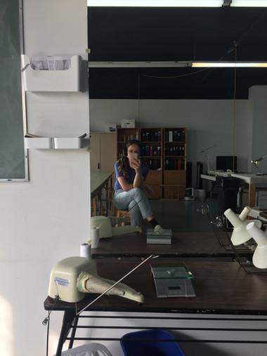Atelier de tricot du Centre des textiles contemporains de Montréal