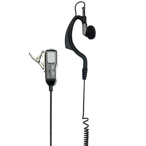 Midland MA 21-L Clip-Mikrofon/Ohrhörer mit 2,5/3,5mm Duoklinkenstecker