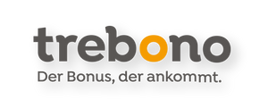 trebono Logo Hintergrund hell mit Claim.