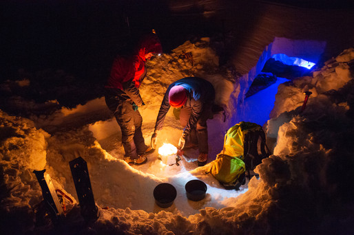 """Hut and Camp Life - """"Snow Cave (Sort Of)"""""""
