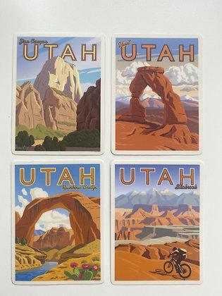 Southern Utah Vinyl Sticker Series
