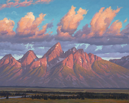 First Light, Grand Teton 8 x 10 print