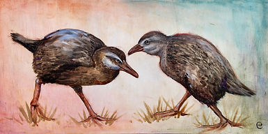 Elissa Baltzar The Sneaky Weka 12 x 24 $