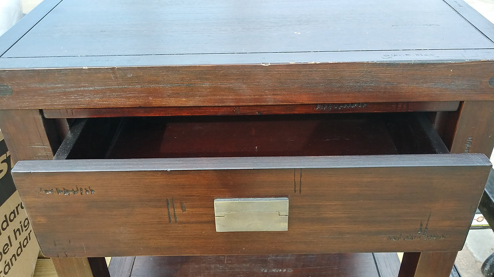 Wooden End Tables with drawersTabls end 25 high x 24 long  x 18.5 wide