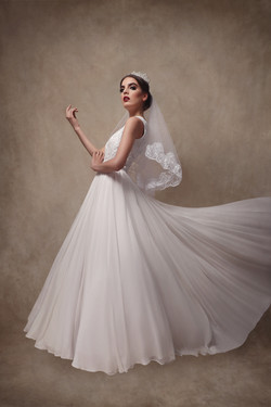 Beaded Chiffon Bridal Gown