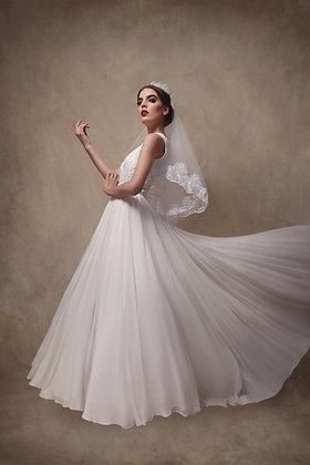 The Beaded Chiffon Gown